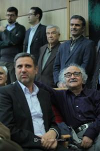 علی دیواندری و شفیعی کدکنی ـ عکس از جواد آتشباری