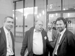 پروفسور فراگنر با دکتر تورج دریایی و شهرام خلدی ( عکس از فریبا امینی)