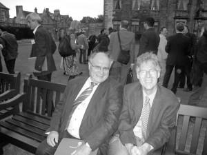 با دکتر رودی مته در کنفرانس تاریخ نگری در شهر سنت اندروز، اسکاتلند ( عکس از فریبا امینی)