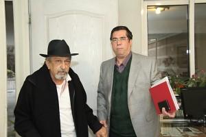 علی دهباشی و جمشید ارجمند ـ عکس از مجتبی سالک