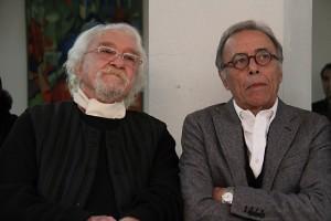 دکتر داریوش شایگان در کنار مهندس ایرج کلانتری ـ عکس از مجتبی سالک