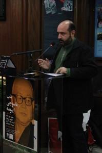 عباس حسینی نژاد متن سخنرانی دکتر نقی زاده را قرائت کرد ـ عکس از ژاله ستار