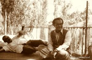 دکتر شهیدی به همراه ایرج افشار