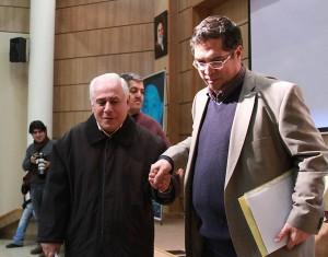 دکتر تورج رهنما و علی دهباشی ـ عکس از مجتبی سالک