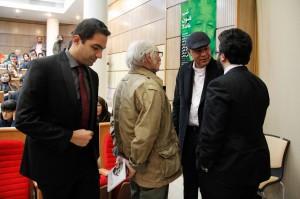 محمود دولت آبادی به همراه ا.وایت هد عکس از ژاله ستار