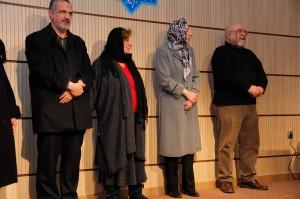 فخرالدین فخرالدینی، دکتر ژاله آموزگار، پری صابری و احمد مسجد جامعی