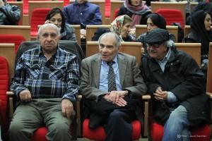 محمدرضا شفیعی کدکنی ، محمد رضا باطنی و جمال میرصادقی ـ عکس از جواد آتشباری