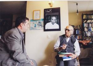 با دکتر محمد ابراهیم باستانی پاریزی ـ فروردین 1391
