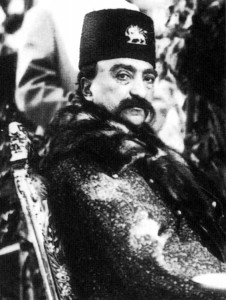 ناصرالدین شاه قاجار مزین به نشان قاجار