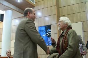 دکتر داریوش شایگان و حسین زریاب خویی ـ عکس از مجتبی سالک