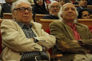 نجف دریابندری به همراه دکتر جلال خالقی مطلق ـ عکس از ژاله ستار