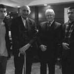 به همراه پروفسور حسین صادقی، دکتر باستانی و شهاب دهباشی