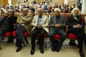 داریوش شایگان، جمشید مشایخی، جعفر والی، اکبر زنجانپور و مسعود کیمیایی ـ عکس از ژاله ستار