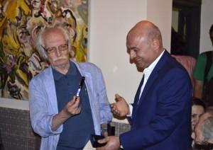 کمال گلستانی و محمود دولت آبادی  ـ عکس از متین خاکپور