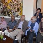 صحنه ای از جشن تولد محمود دولت آبادی