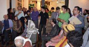 صحنه ای از جشن سالروز تولد محمود دولت آبادی ـ عکس از متین خاکپور