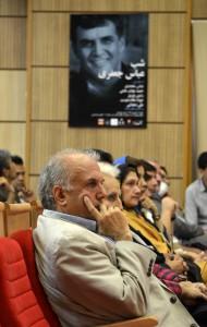 داود موسایی ( مدیر نشر فرهنگ معاصر) در شب عباس جعفری