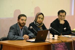 علی دهباشی، حانیه اینانلو و دکتر واسلی ـ عکس از متین خاکپور