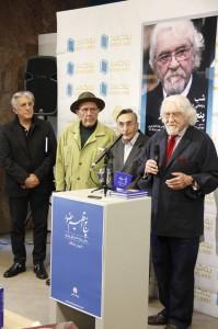داریوش شایگان به همراه  ژاله آموزگار، جواد مجابی و رضا کیانیان ـ عکس از ژاله ستار