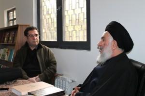 علی دهباشی به همراه سید مصطفی محقق داماد ـ عکس از امید علمداری