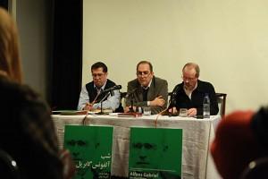 علی دهباشی، سعید فیروزآبادی و برنهارد ویدر ـ عکس از مجتبی سالک