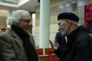 محمد علی موحد به همراه داریوش شایگان ـ عکس از مجتبی سالک