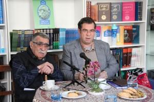 علی دهباشی و استاد سید عبدالله انوار ـ عکس از سارا رجب دوست