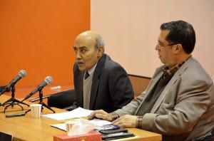 محمدرضا جعفری و علی دهباشی ـ عکس از متین خاکپور