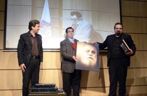 تجلیل از سایه  ـ میلاد عظیمی، علی دهباشی و عیلرضا بهرامی ـ عکس از متین خاکپور