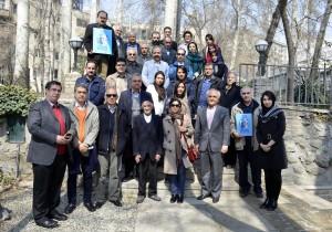 عکس یادگاری با دکتر پروین در باغ بنیاد موقوفات دکتر محمود افشار