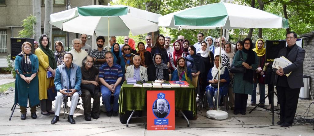 عکس یادگاری با صفدر تقی زاده ـ عکس از متین خاکپور