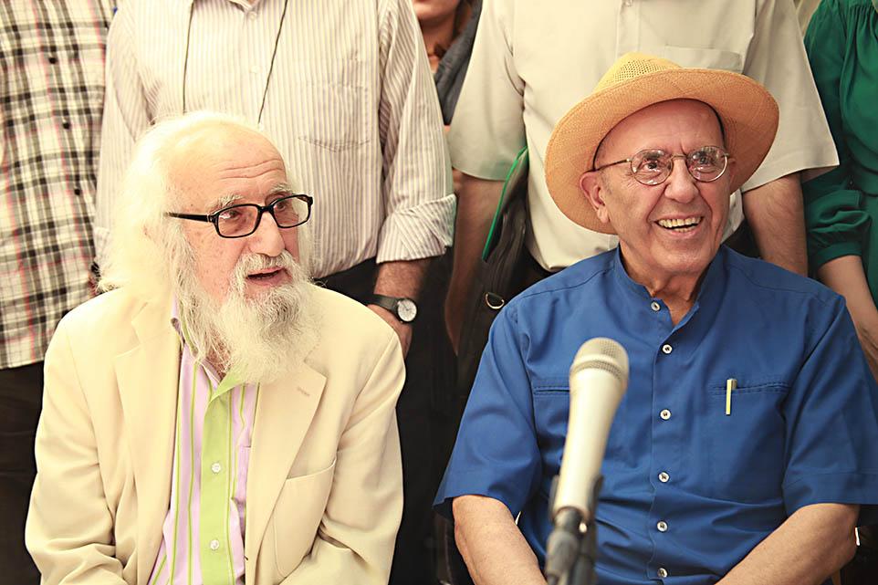 حسین محجوبی و جواد مجابی - عکس از مجتبی سالک