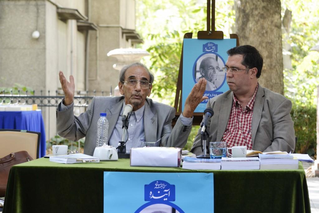 علی دهباشی و دکتر پرویز کردوانی ـ عکس از متین خاکپور