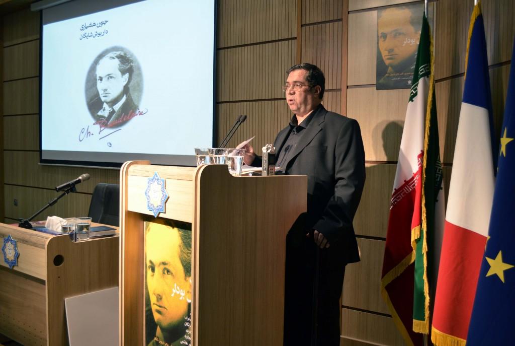 علی دهباشی از تألیفات دکتر شایگان به زبان فارسی می گوید ـ عکس از متین خاکپور