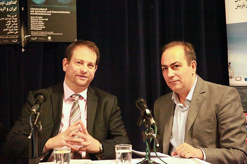 دکتر سعید فیروزآبادی و توماس کلویبر - عکس از مجتبی سالک
