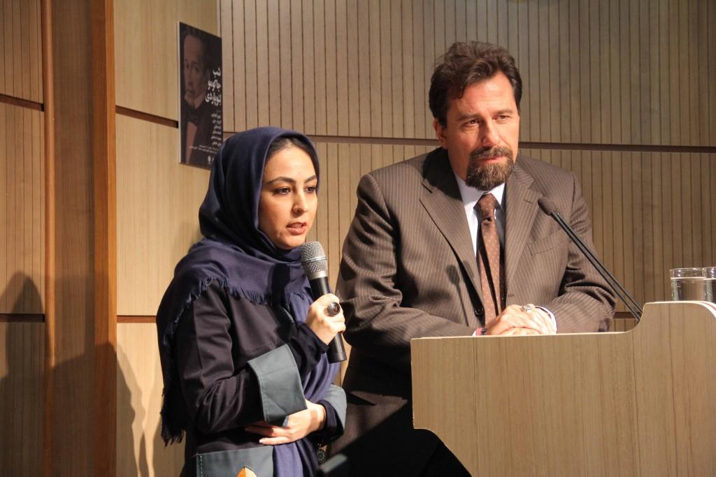 دکتر کارلو چرتی و حانیه اینانلو ـ عکس از مجتبی سالک
