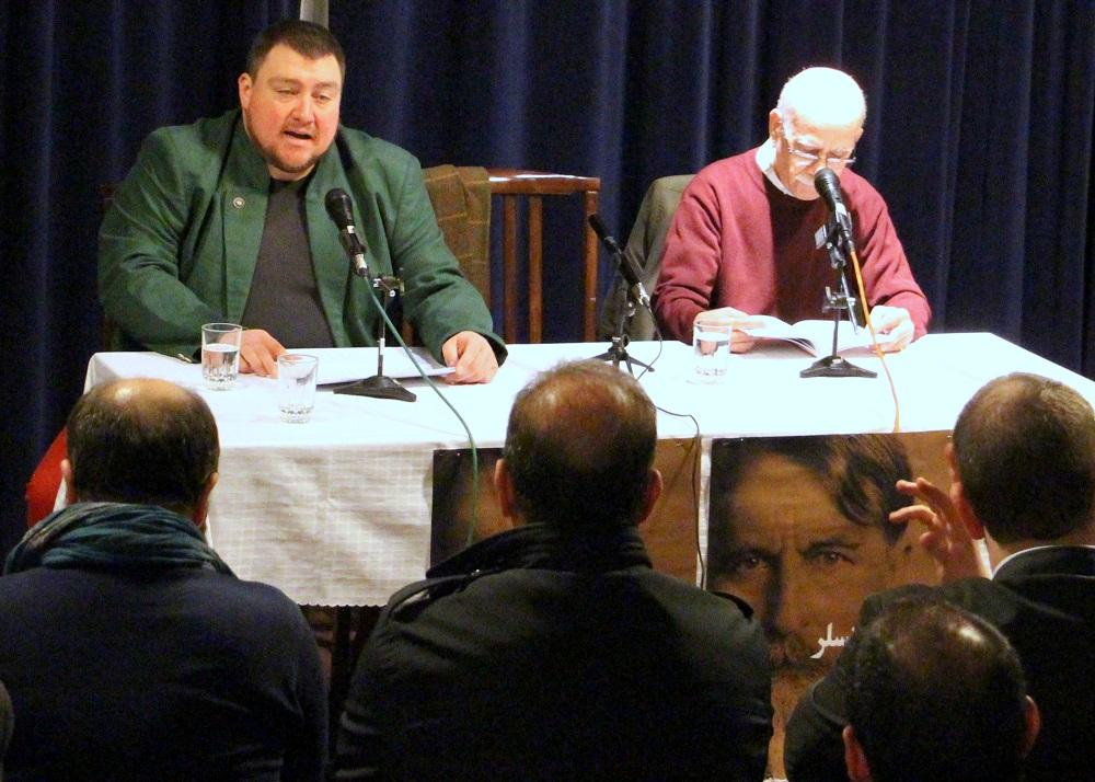 علی اصغر حداد و کریتسف ... قصه گل ها را به فارسی و آلمانی خواندند