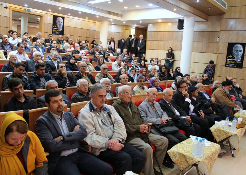صحنه ای از یادبود استاد منوچهر ستوده در کانون زبان فارسی