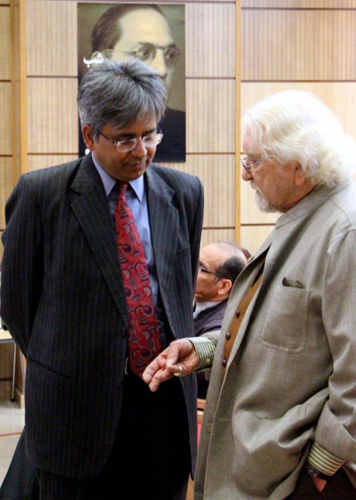 دکتر داریوش شایگان و سفیر هند، سائوراب کومار ـ عکس از مریم اسلوبی