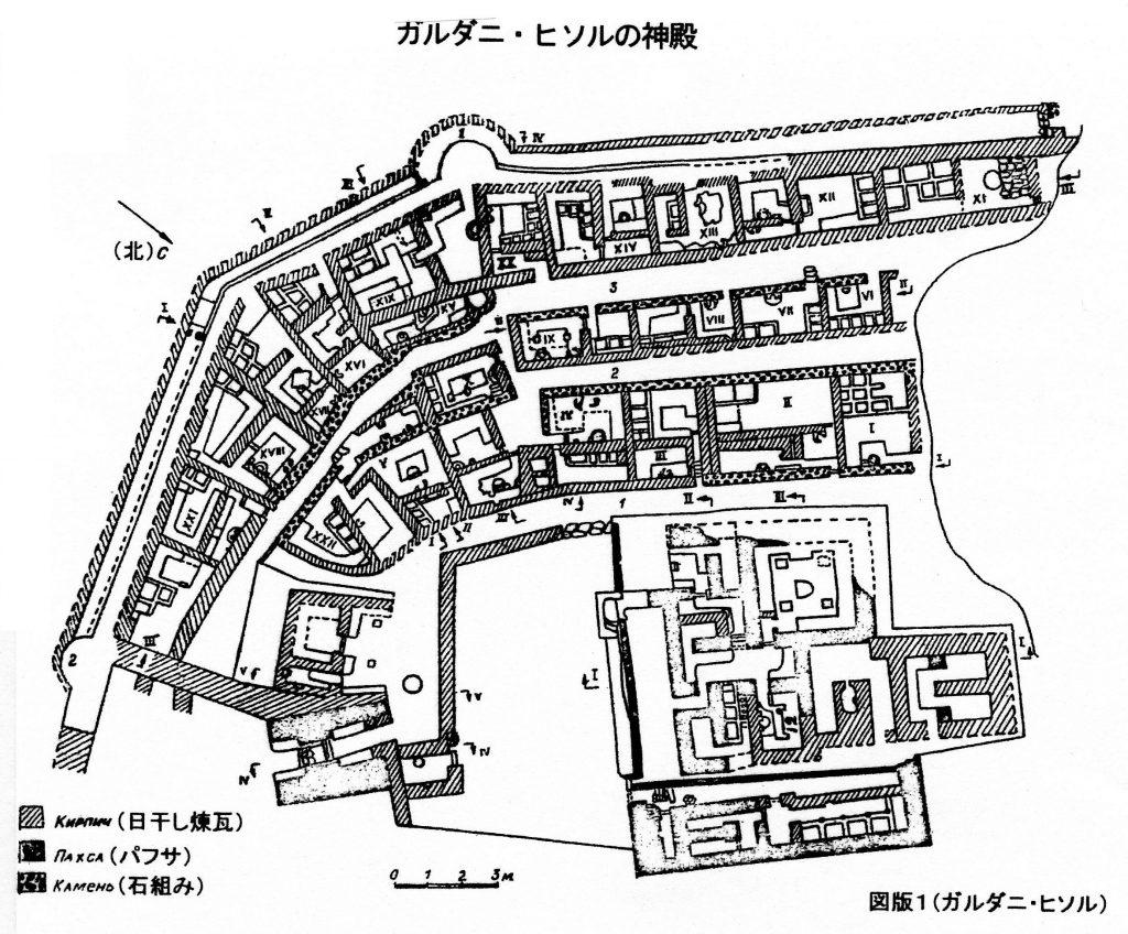 نقشه مجموعه نیایشگاه زرتشتی در گردنه حصار