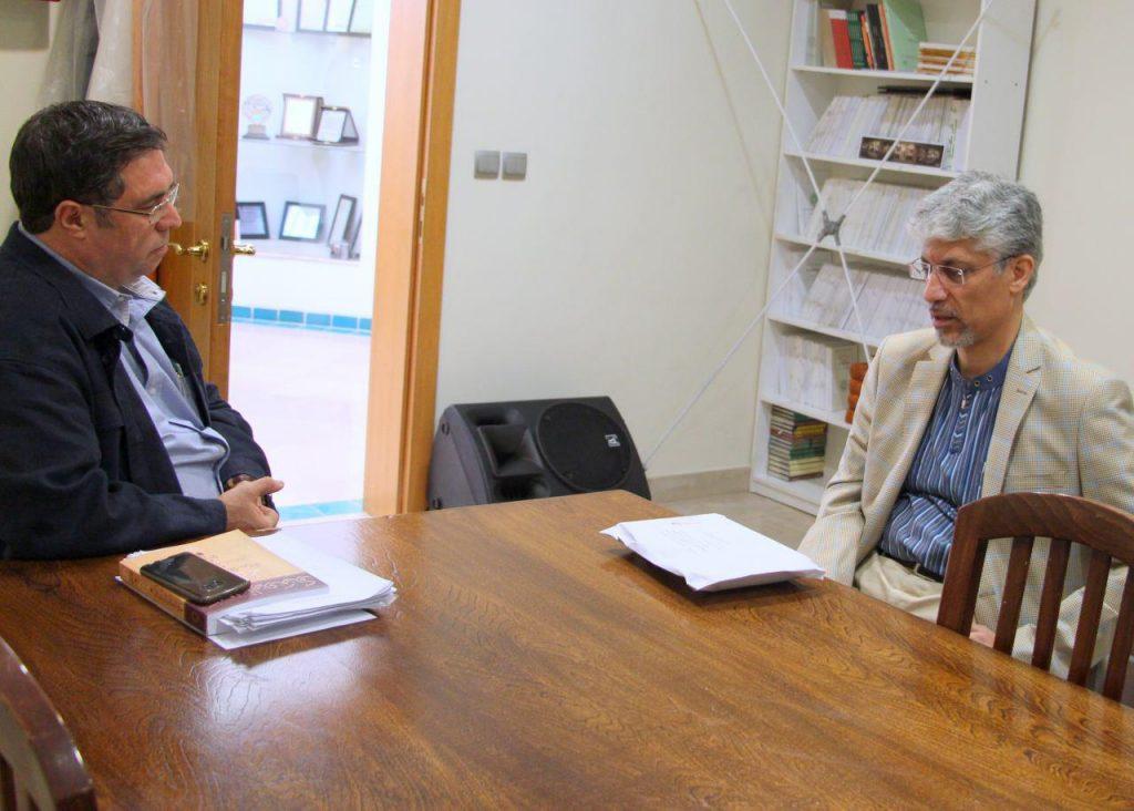 دکتر محمد دهقانی و علی دهباشی در کتابفروشی آینده