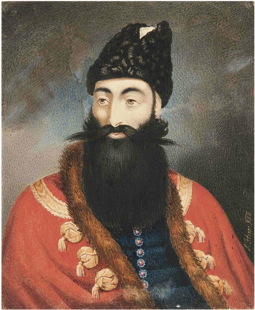 شاهزاده عباس میرزا، ۱۸۳۳ میلادی با امضای I.HERR