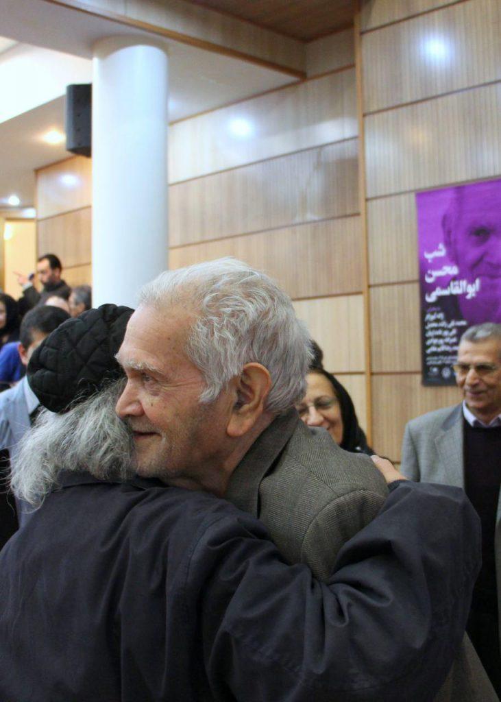 استاد محسن القاسمی و دکتر محمدرضا شفیعی کدکنی