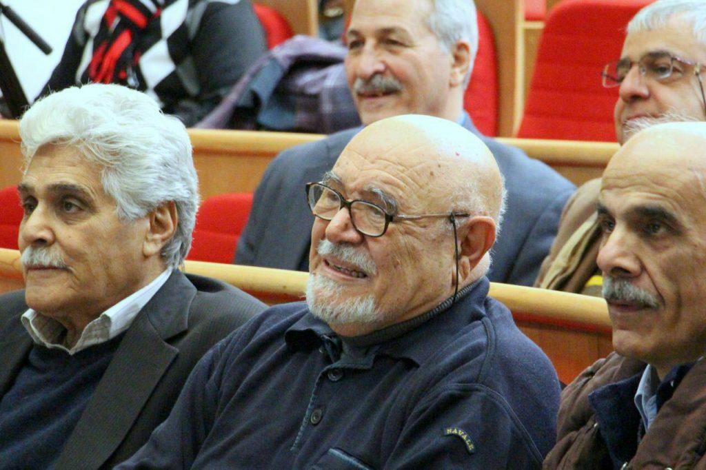 استاد فخرالدینی در کنار هارون یشایائی
