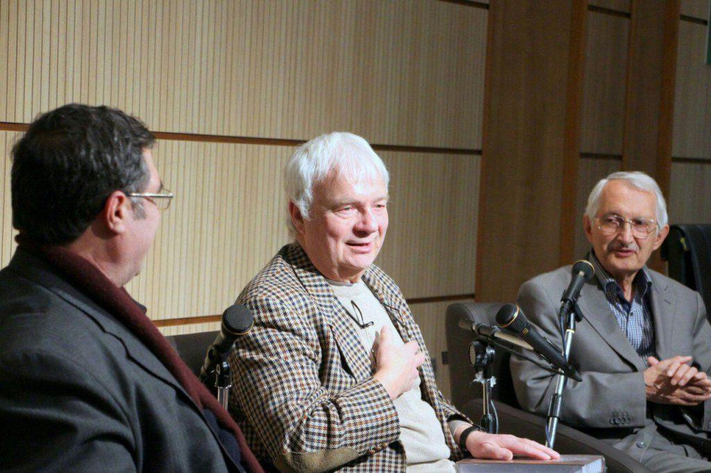 کتر احمد کاظمی موسوی، علی دهباشی و پروفسور ویلم فلور