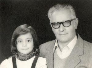 دکتر انور خامه ای و دخترش ملیحه