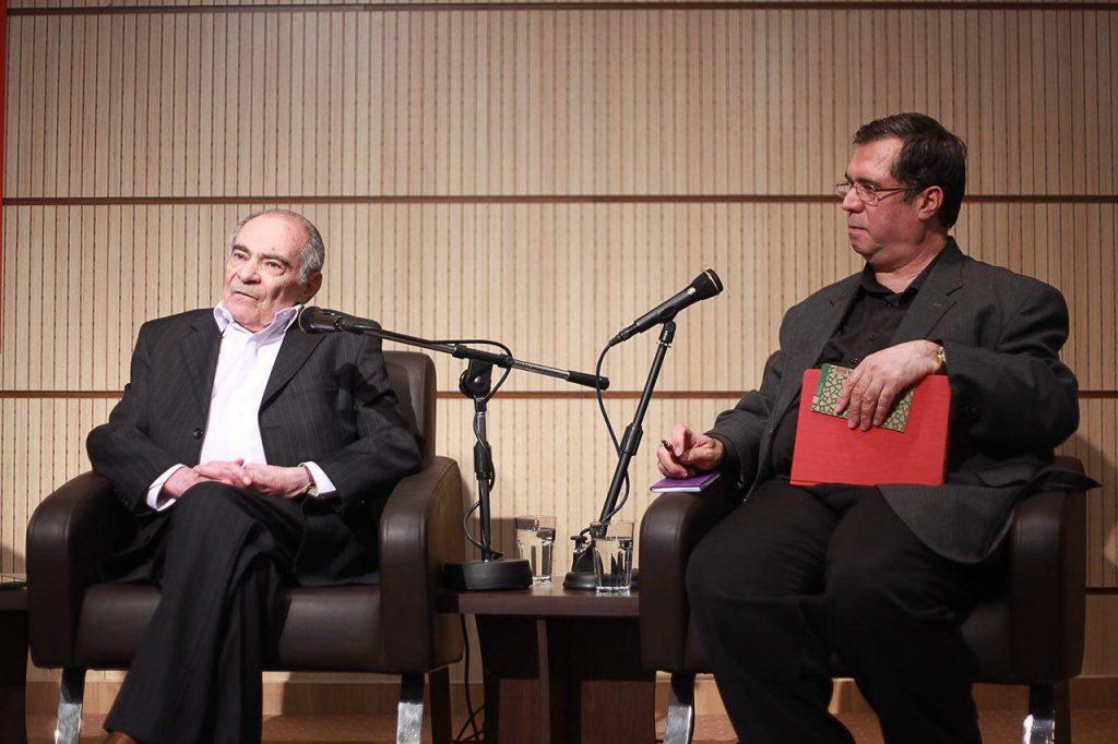 علی دهباشی در دیدار و گفتگو با دکتر محمدرضا باطنی