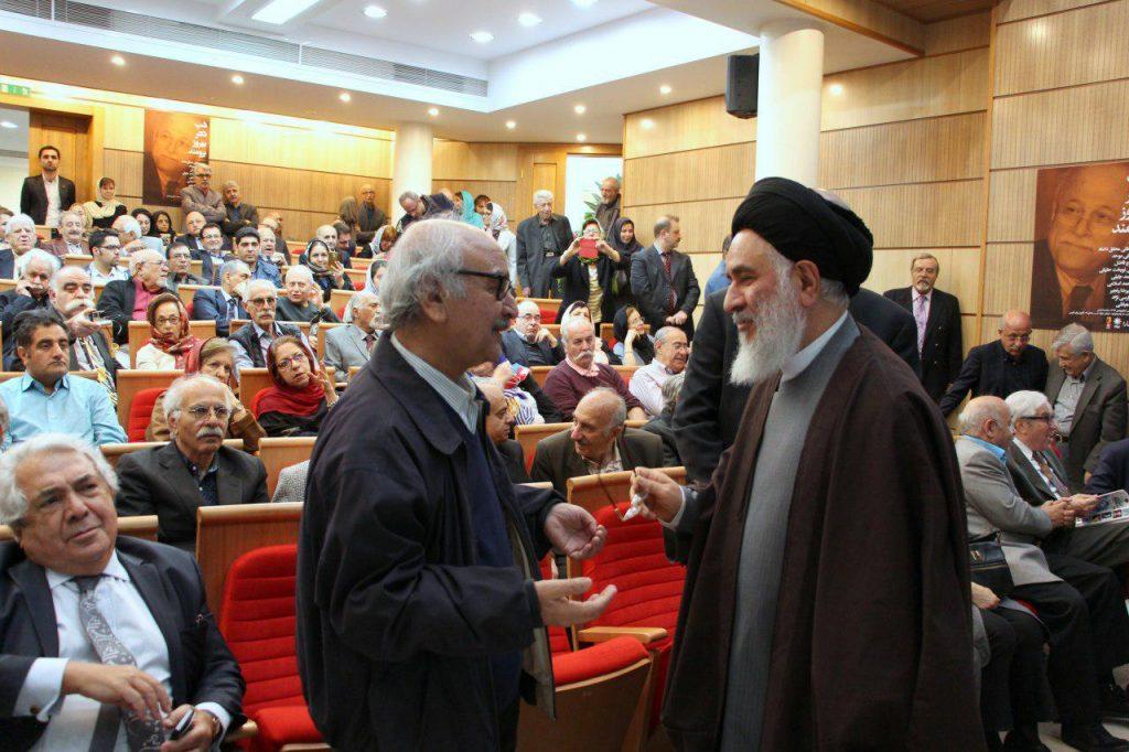 دکتر سید مصطفی محقق داماد به همراه دکتر محمدرضا شفیعی کدکنی