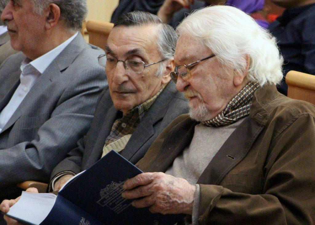 دکتر داریوش شایگان در کنار استاد کامران فانی