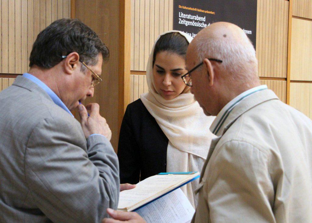 یاسمین غرابی به همراه دکتر علی اصغر حداد و علی دهباشی